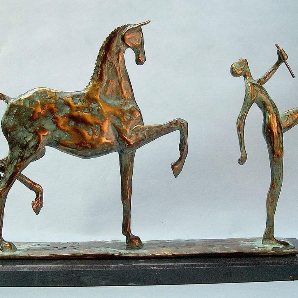 Frank Califano Hear the Music Bronze Sculpture
