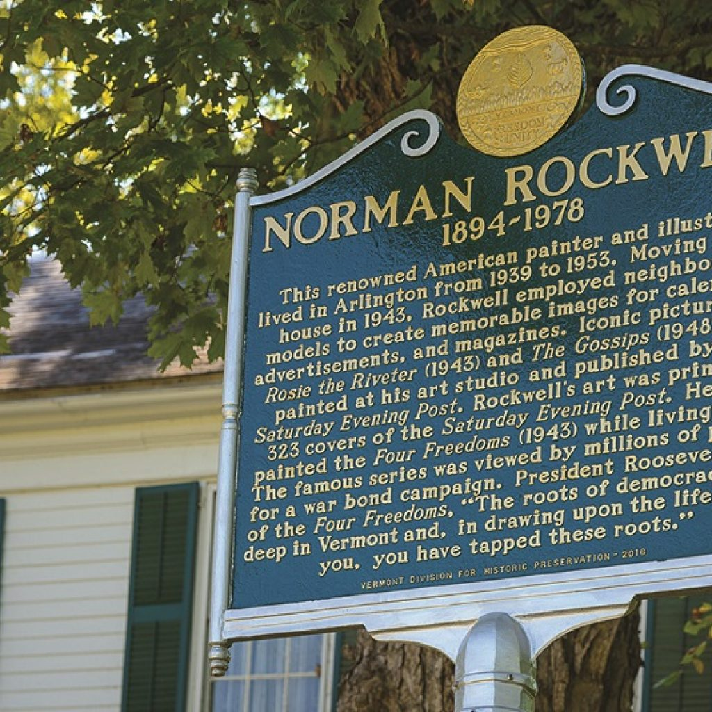 Norman Rockwell Plaque